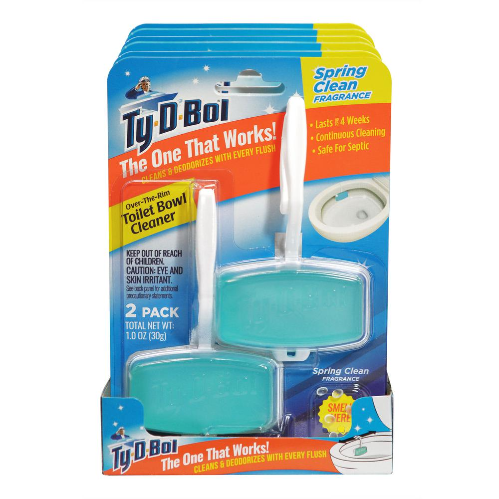 Ty-D-Bol 1 oz. Spring Clean Fragrance Toilet Bowl Cleaning Gel (6-Pack)