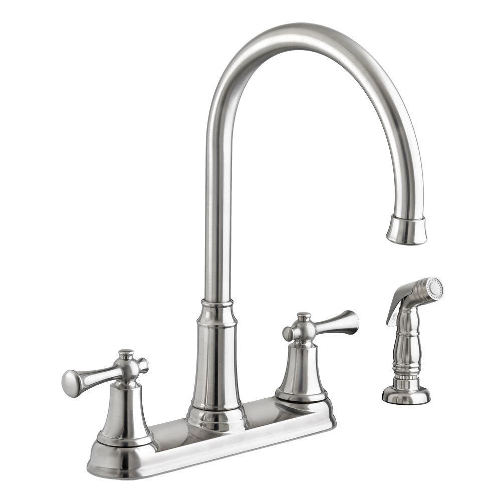 pfister port haven 2 handle bridge kitchen faucet in stainless steel rh homedepot com