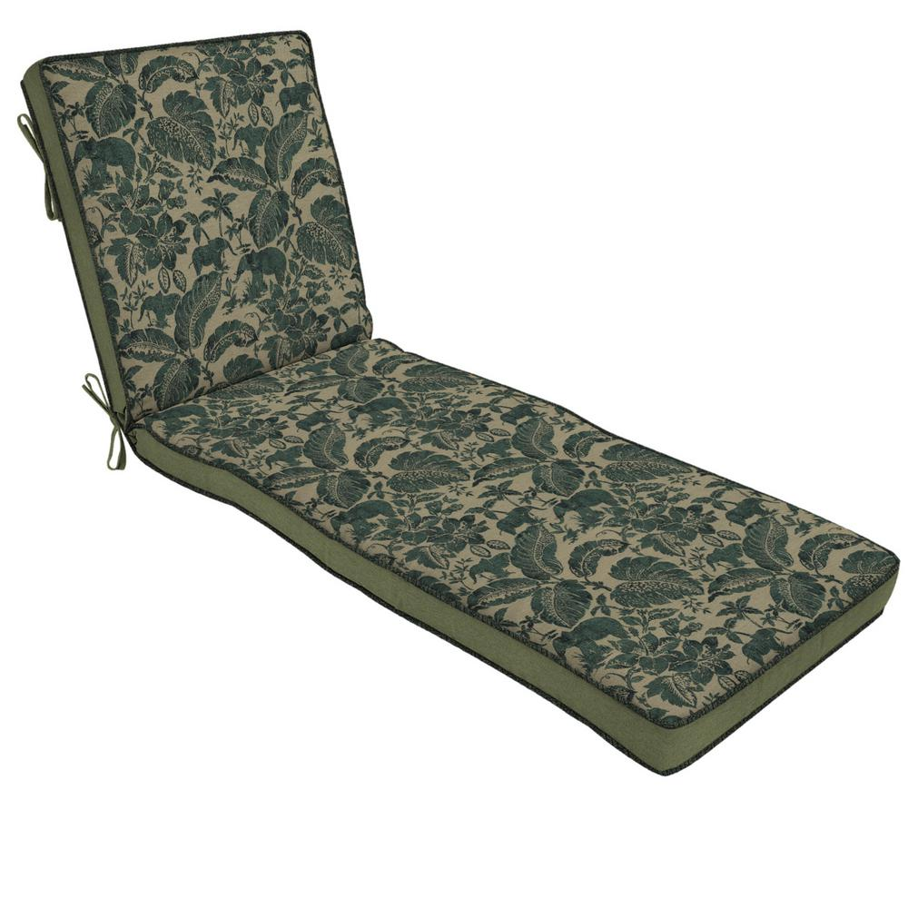 Casablanca Elephant Outdoor Chaise Lounge Cushion