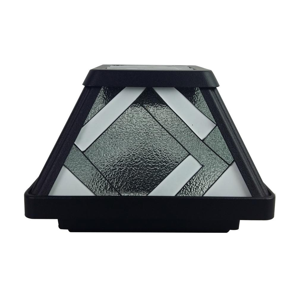 Solar Outdoor Patio Deck Lights: Moonrays Montclair-Style Solar Black Outdoor Integrated