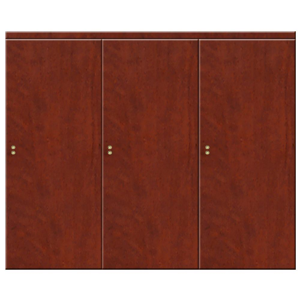90 in. x 80 in. Smooth Flush Cherry Solid Core MDF