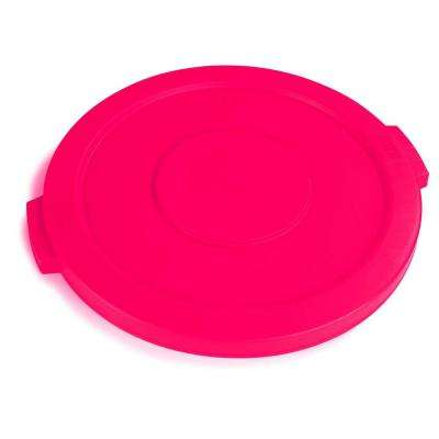 Bronco 10 Gal. Red Round Trash Can Lid (6-Pack)