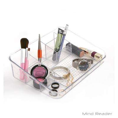 7-Compartment Over-the-Cabinet Clear Cosmetic Storage Organizer
