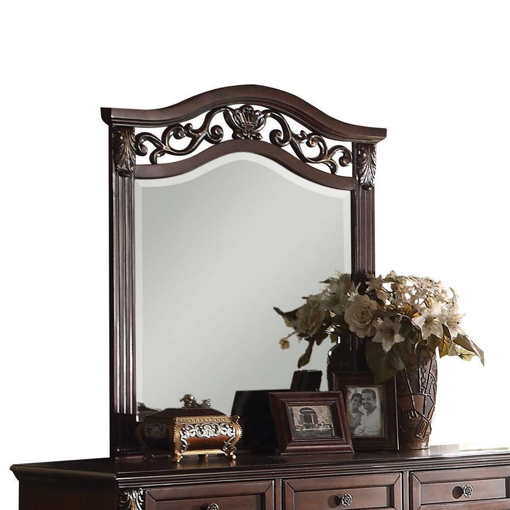 Dark Walnut Wood Mirror 347053