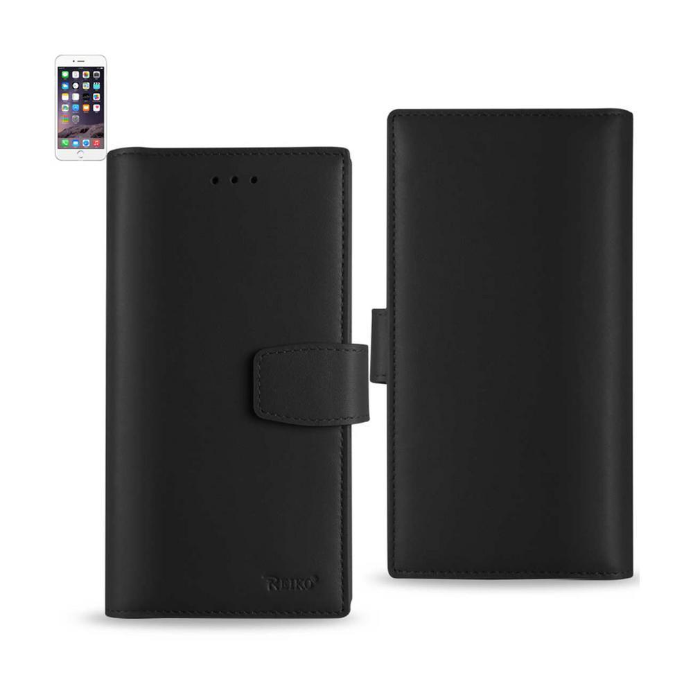 buy popular 74341 8c31d REIKO iPhone 6/6S Genuine Leather Design Case in Black