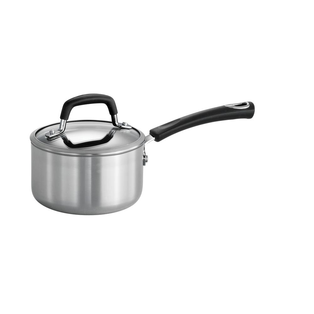 Tramontina Style Polished Aluminum 1.25 Qt. Covered Sauce...