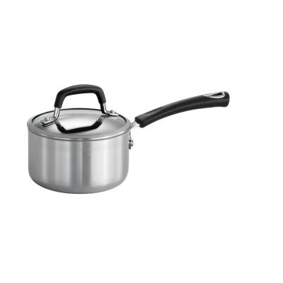 Style Polished Aluminum 1.25 Qt. Covered Sauce Pan