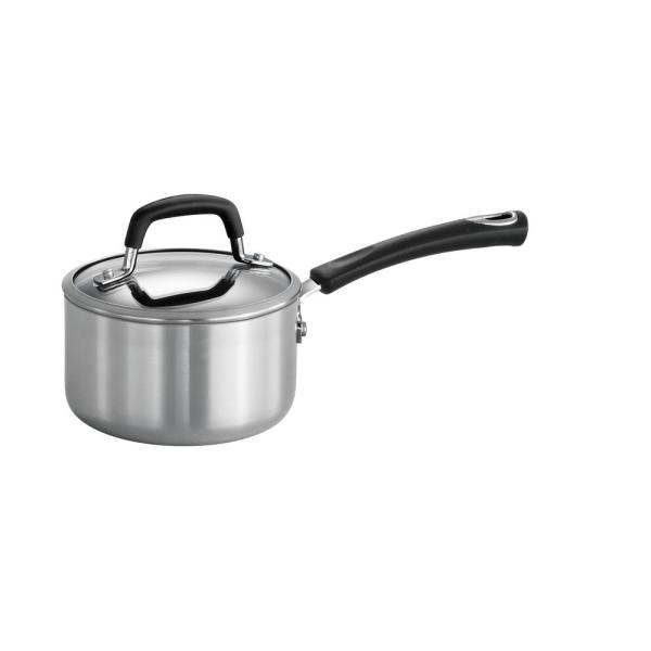 Tramontina Style Polished Aluminum 1.25 Qt. Covered Sauce Pan