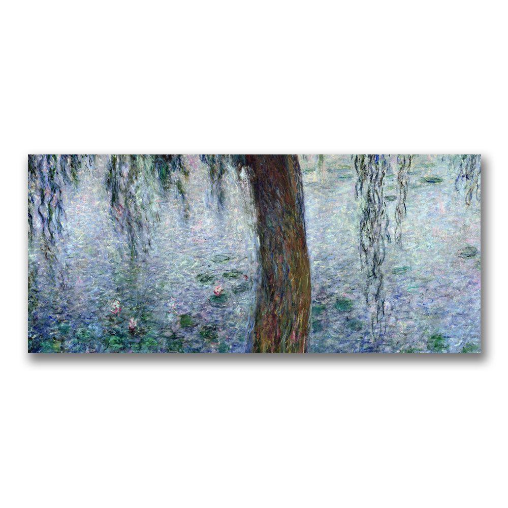 Trademark Fine Art 14 in. x 32 in. Waterlilies Morning III Canvas Art