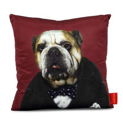 """18 in. x 18 in. Turquoises Pets Rock """"Leader"""" Throw Pillow"""
