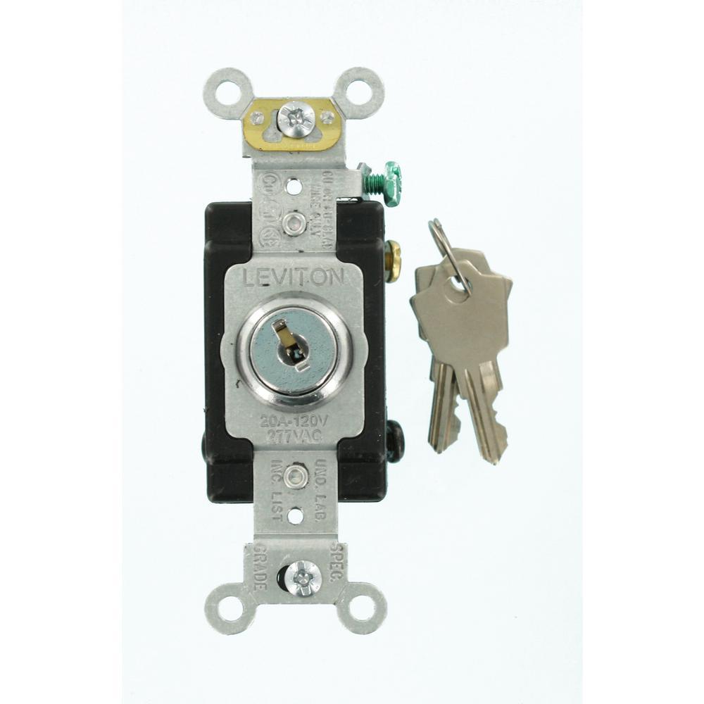 Leviton 20 Amp Industrial Grade Heavy Duty 4Way Key Locking Switch