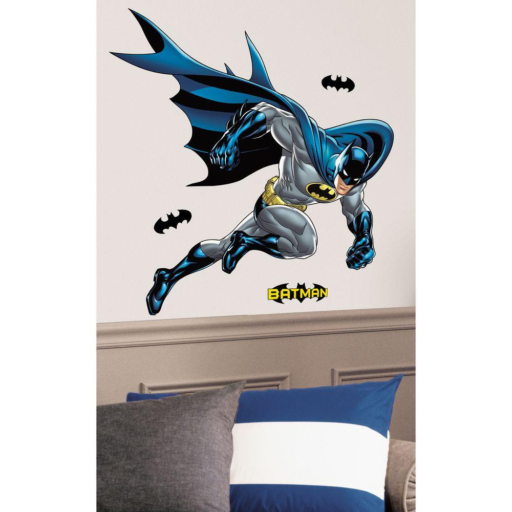 RoomMates 38 in. x 44 in. Batman Bold Justice Peel and Stick Giant Wall Decal