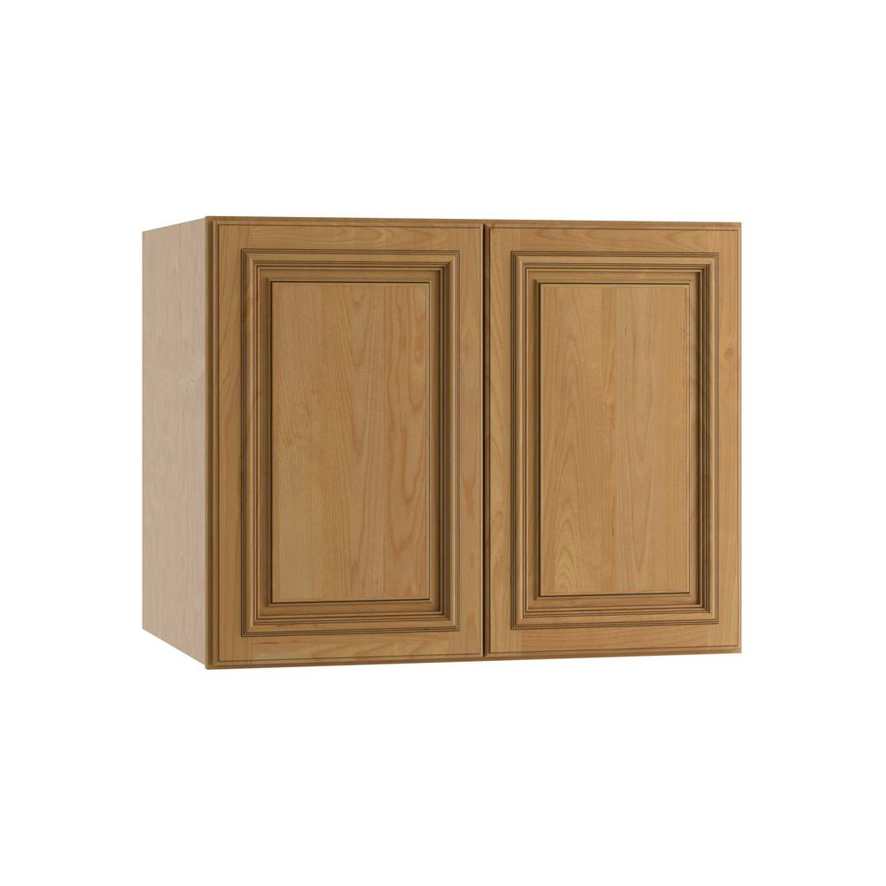Clevedon Assembled 30x24x24 in. Double Door Wall Kitchen Cabinet in Toffee