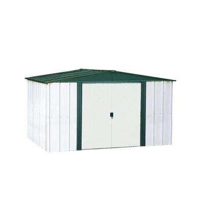 Hamlet 8 ft. W x 6 ft. D 2-Tone White Galvanized Metal Storage Shed
