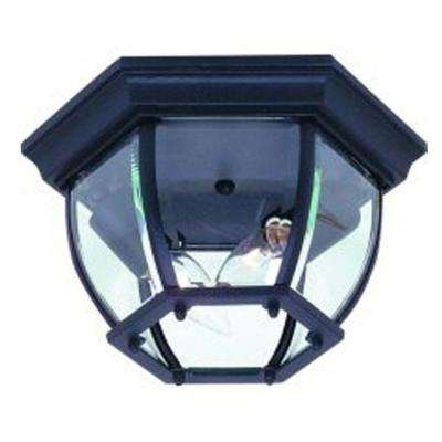 Sergej 2-Light Rust Outdoor Flush Mount