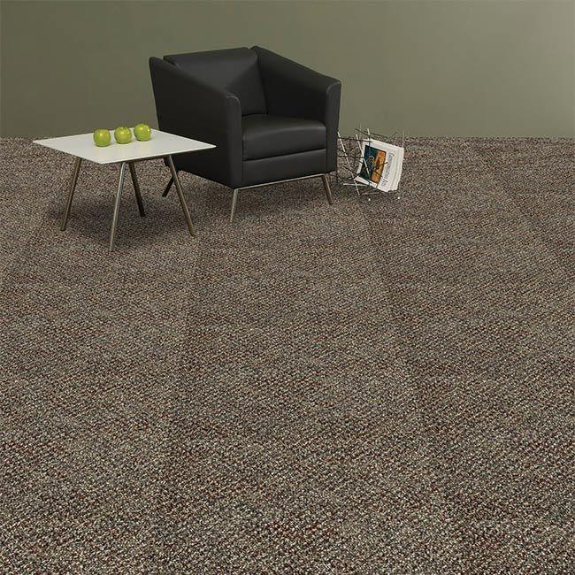 J&J Industries DEVELOPER Earth 24 in. x 24 in. Modular Carpet Tile Kit (18 Tiles and 1 Packet of TileTabs connectors)-DISCONTINUED