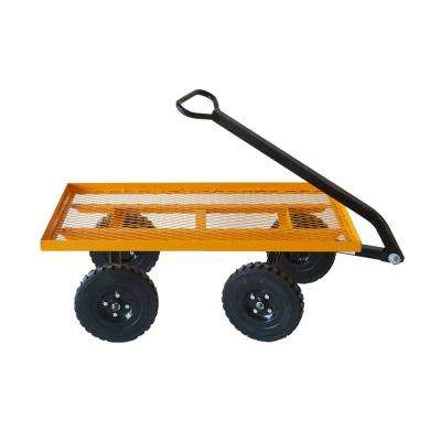 FORZA 600 lbs. Capacity Heavy-Duty Garden Steel Flat Bed with Flat Free Tires 10 in. x 2 in.