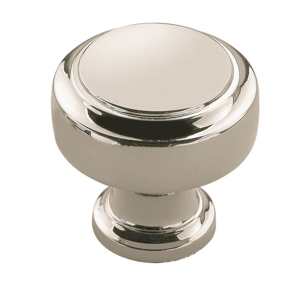 Highland Ridge 1-3/16 in. (30 mm) Diameter Polished Nickel Cabinet Knob