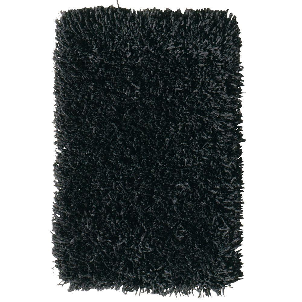 Home Decorators Collection Ultimate Shag Black 8 ft. x 10 ft. Area Rug