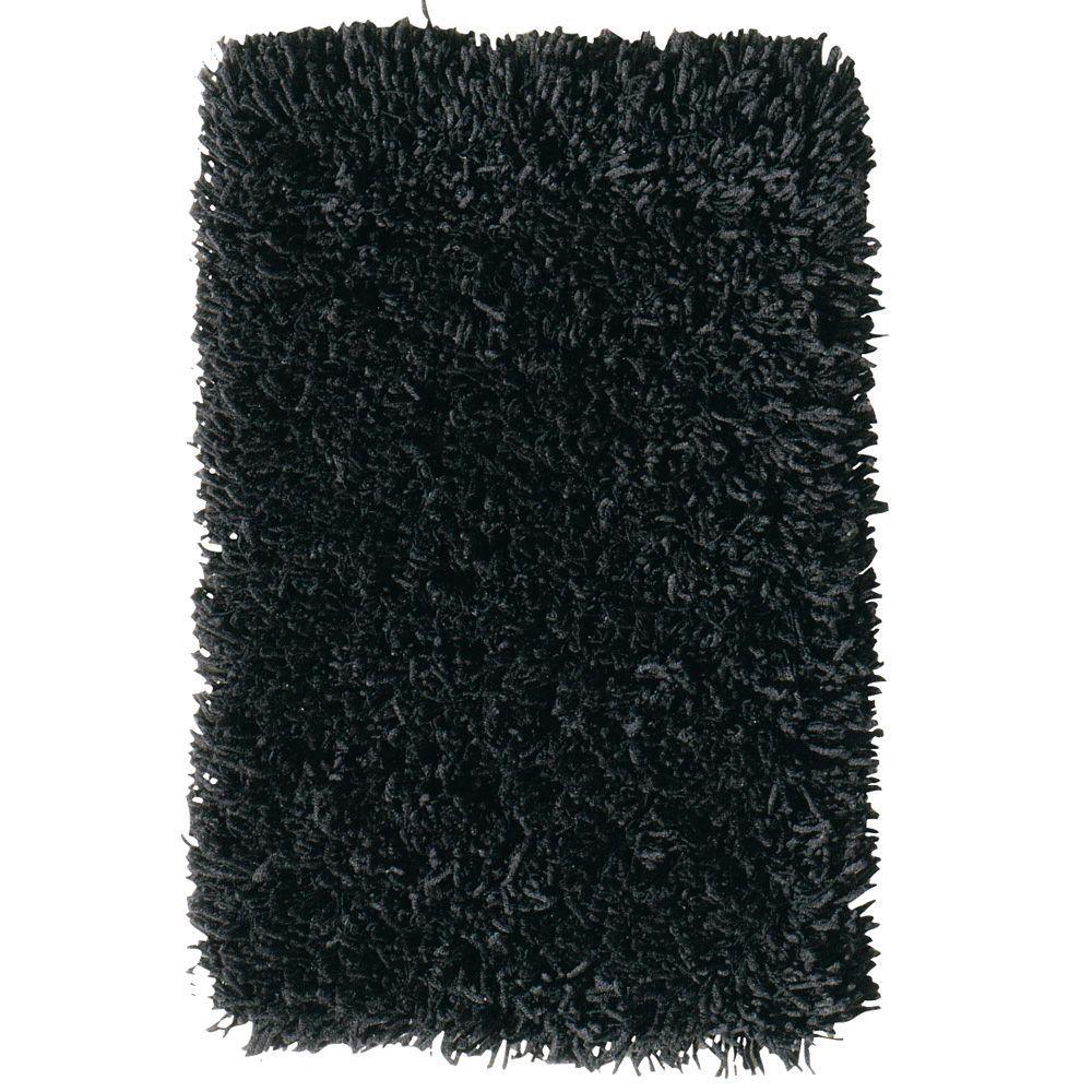 Ultimate Shag Black 8 ft. x 10 ft. Area Rug