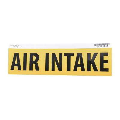 3 in. x 11.5 in. Yellow Air Intake Gas Safety Decal