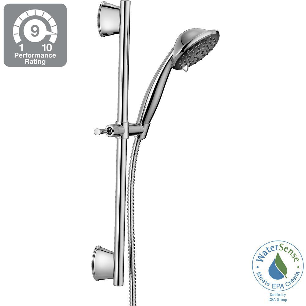 Porter 3-Spray Wall Bar Shower Kit in Chrome