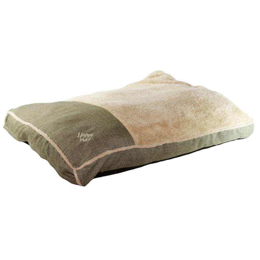 HT PET PRODUCTS Large Sage Linen Gusseted Bed