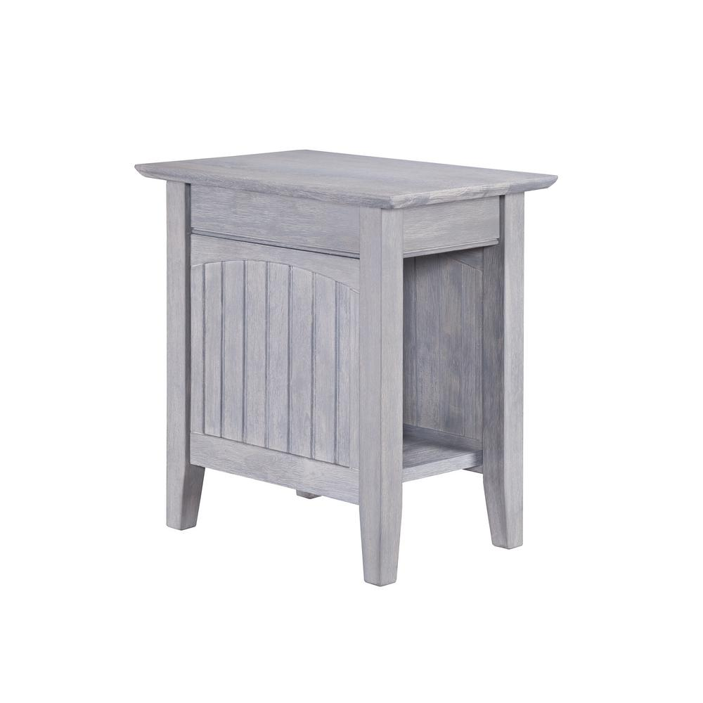Atlantic Furniture Nantucket Driftwood Grey Chair Side Table