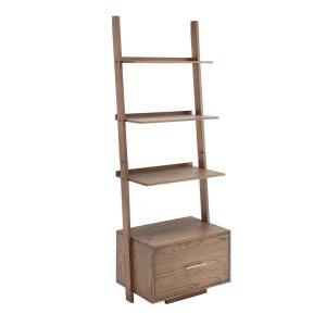 Convenience Concepts 69 In White Wood 4 Shelf Ladder Bookcase With Open Back 8043491w The Home Depot