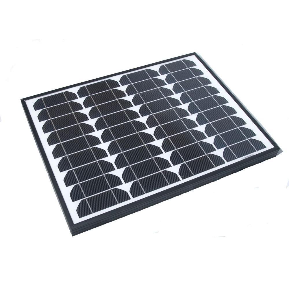 40-Watt Monocrystalline Solar Panel with Aluminum Frame