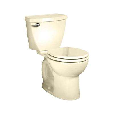 Cadet 3 FloWise Tall Height 2-Piece 1.28 GPF Single Flush Round Toilet in Bone with Slow Close Seat