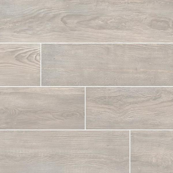 Caldera Grigia 8 in. x 47 in. Matte Porcelain Floor and Wall Tile (15.67 sq. ft. / case)