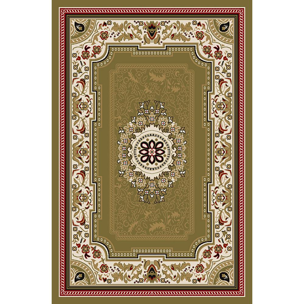 Ephes Collection Green 5 ft. x 7 ft. Area Rug