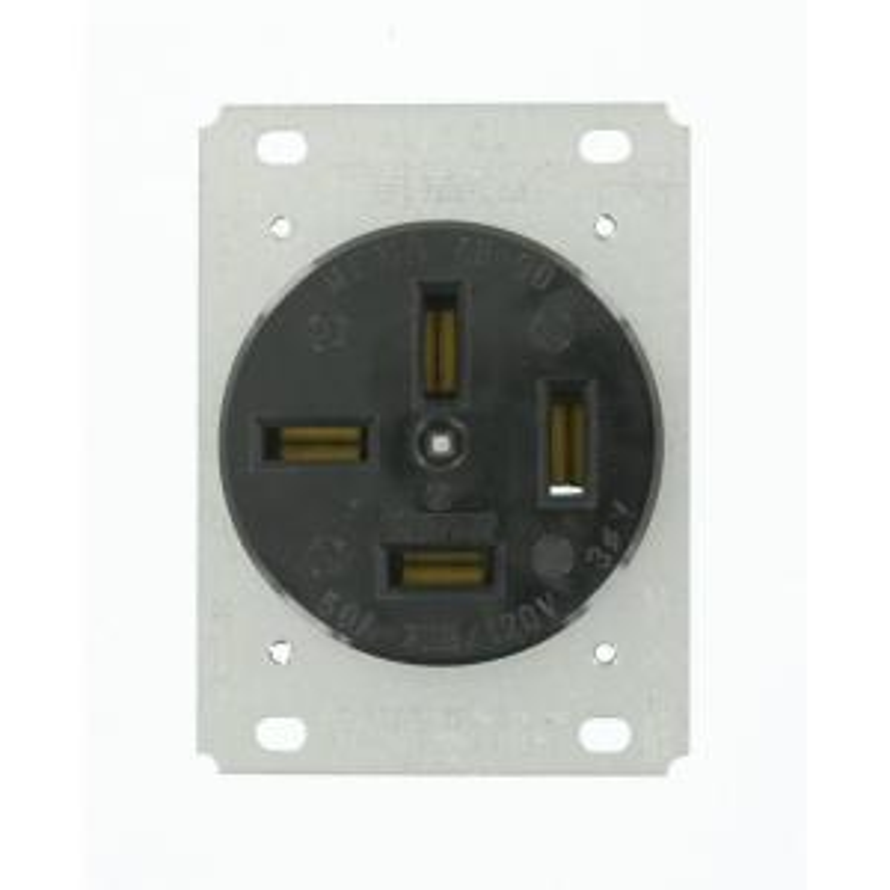 Awe Inspiring Leviton 50 Amp Flush Mount Shallow Single Outlet Black R10 00279 Wiring 101 Ferenstreekradiomeanderfmnl