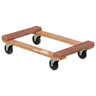 18 in. x 30 in. 1,200 lb. Hardwood Dolly Rubber Ends