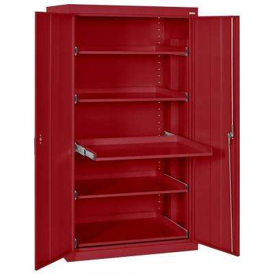 66 in. H x 36 in. W x 24 in. D Steel Heavy Duty Storage Cabinets with Pull-Out Tray Shelves