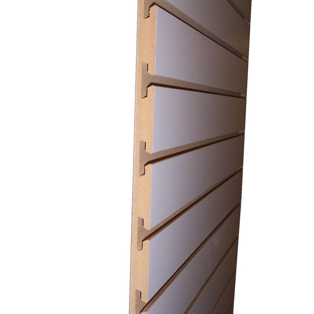 3 4 In X 24 In X 8 Ft White Slatwall Melamine Board 663765 The