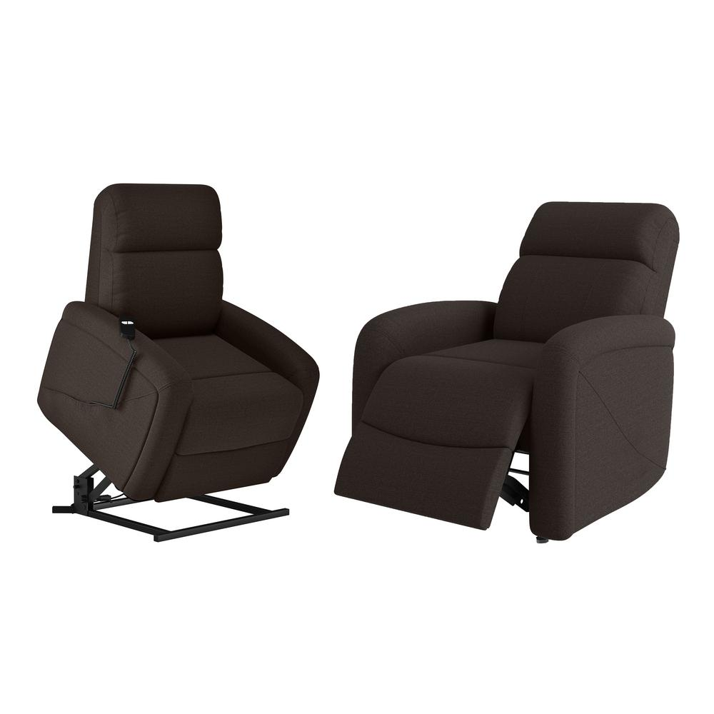 ProLounger Rocker Recliner and Power in Chocolate Brown Chenille Lift Recline Chairs (Set of 2) A152907 The Home Depot
