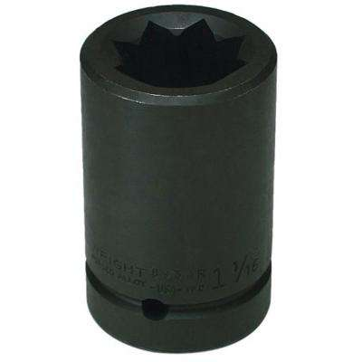 1 in. Drive 6-Point 1-7/16 in. Double Square Impact Railroad Socket