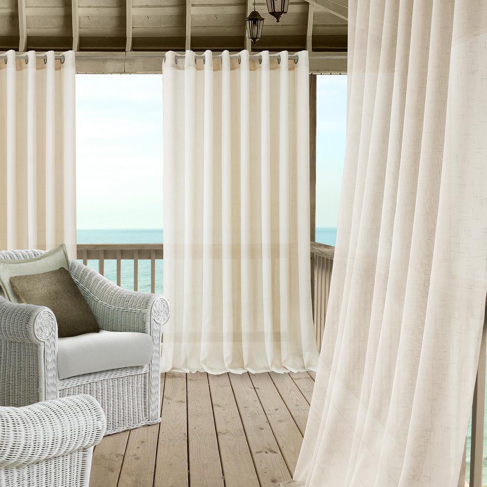 Carmen Extra Wide Indoor/Outdoor Sheer Window Curtain