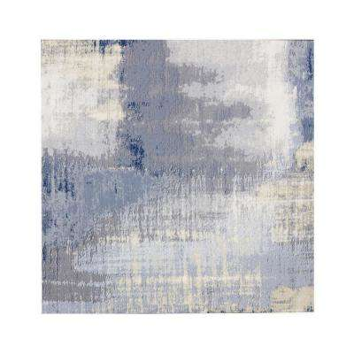Nature 8 in. x 8 in. Cement Blue Glass Peel and Stick Decorative Wall Tile Backsplash (10-Pieces/Pack)