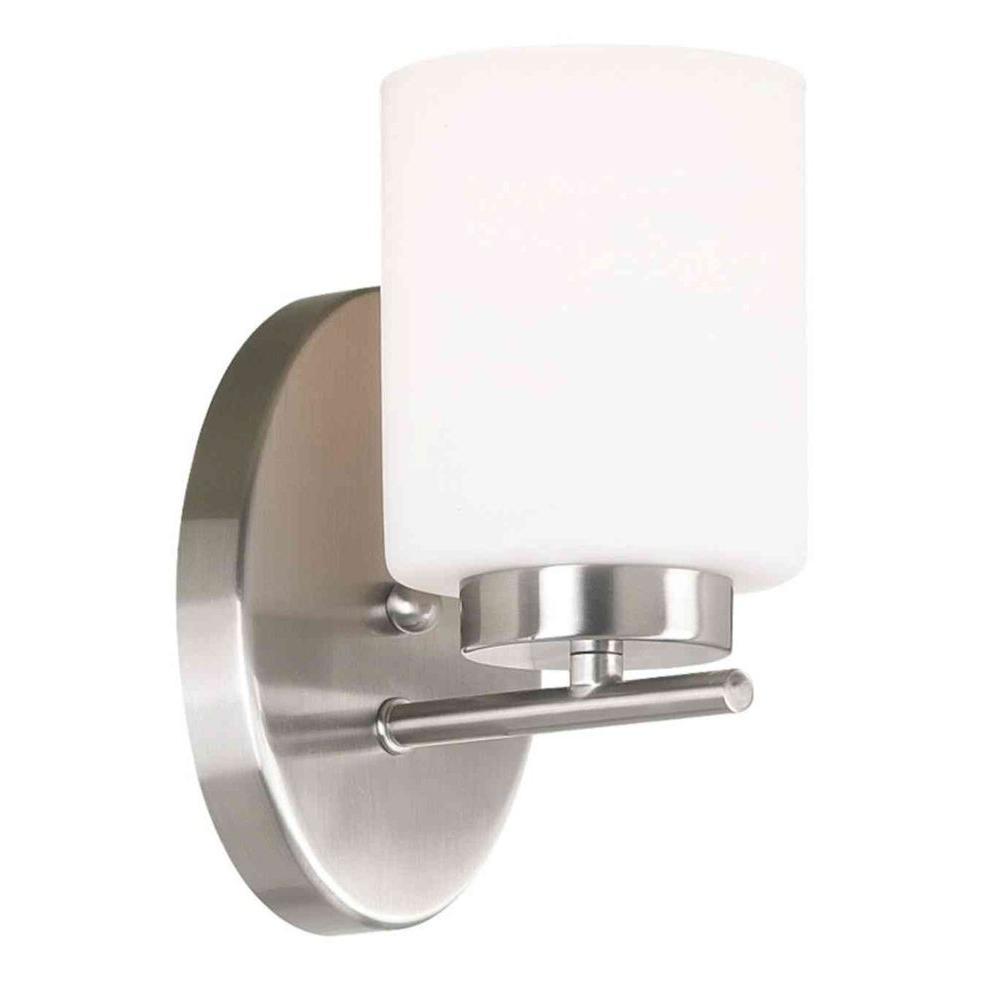 Mezzanine 1-Light Brushed Steel Light Sconce