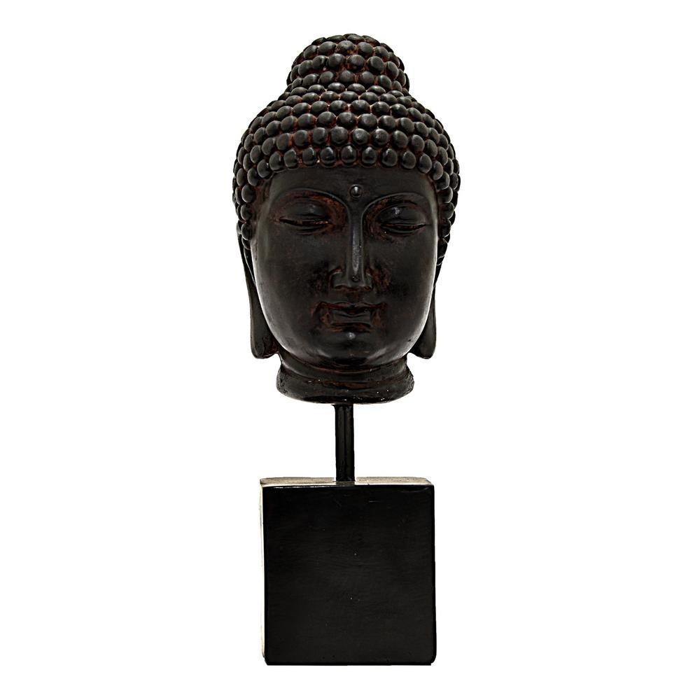 14 in. Black Buddha Decoration
