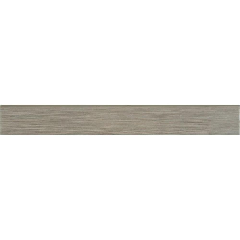 Msi Metro Charcoal Bullnose 3 in. x 24 in. Glazed Porcelain Wall Tile (12 pieces / 24 lin. ft. / case), Gray