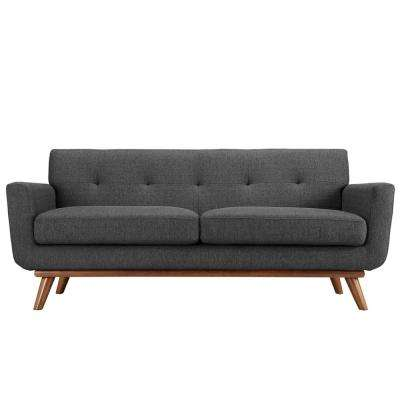 Engage Gray Upholstered Fabric Loveseat