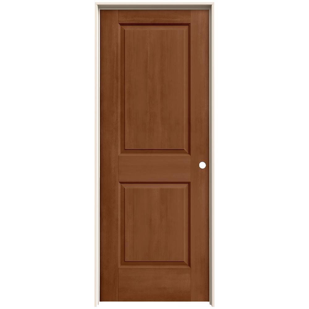 30 in. x 80 in. Cambridge Hazelnut Stain Left-Hand Molded Composite MDF Single Prehung Interior Door