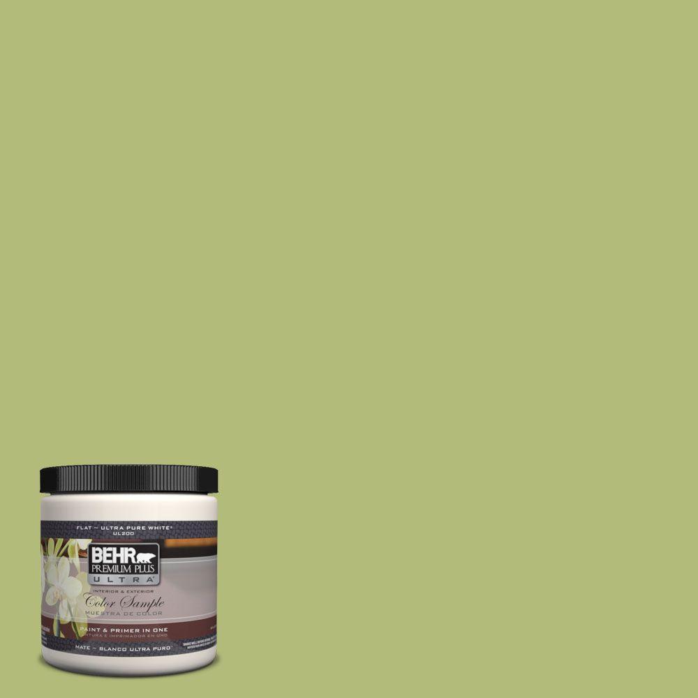 BEHR Premium Plus Ultra 8 oz. #PPH-56 Lime Lollipop Interior/Exterior Paint Sample