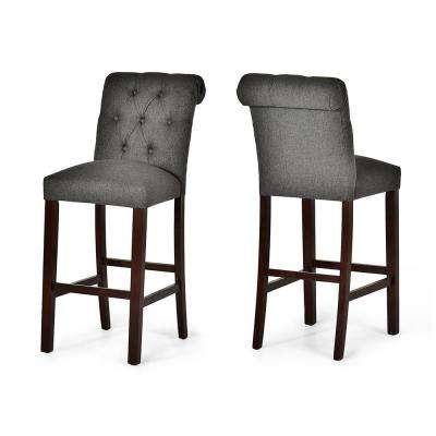 Gray Bar Stools Kitchen Dining Room Furniture The Home Depot