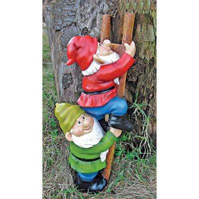 12 in. H Up the Ladder Climbing Garden Gnome Statue