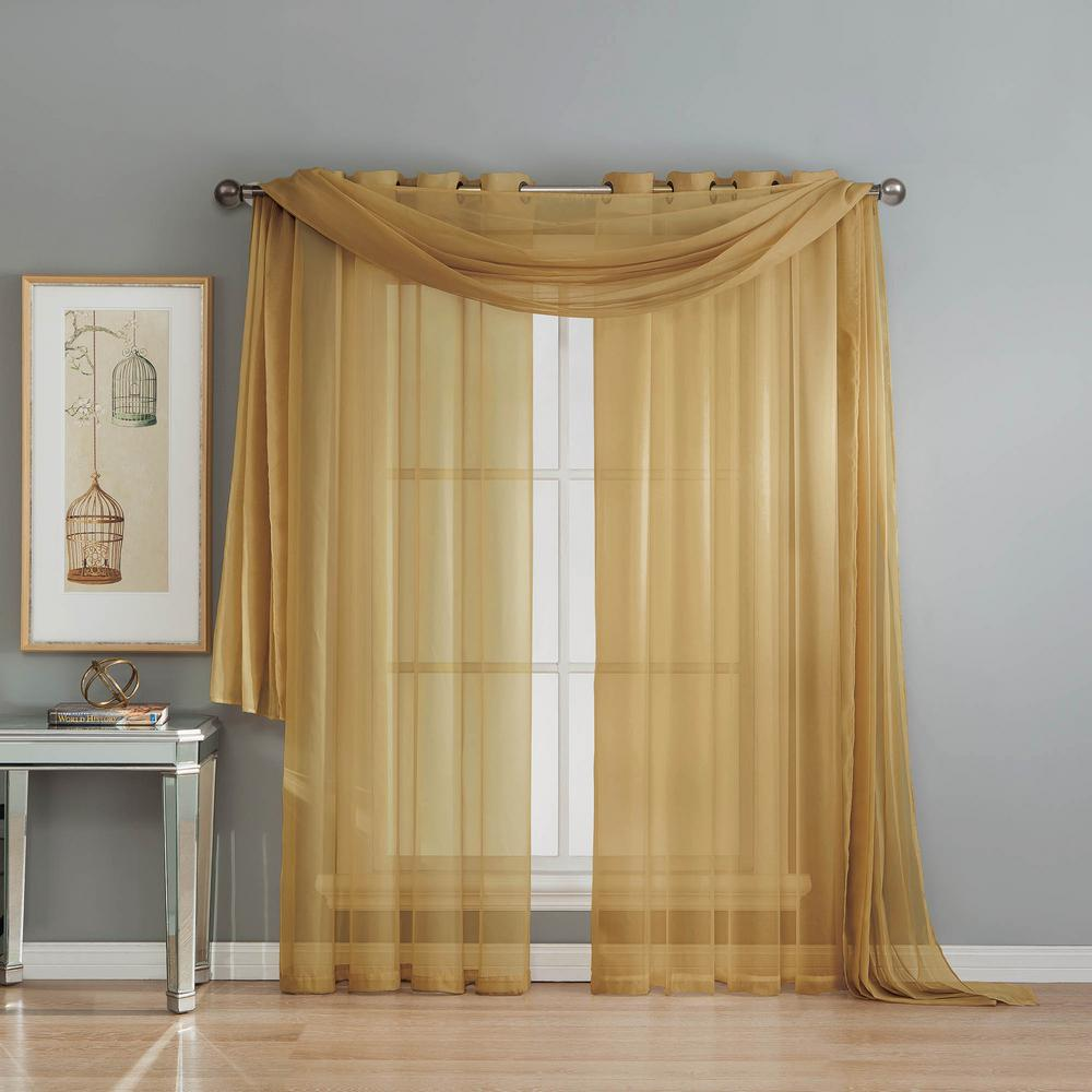 Window Elements Solid Voile Sheer 216 In L Polyester